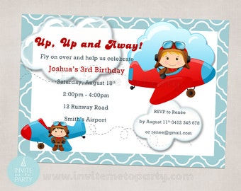Little Pilot / Little Aviator Invitation