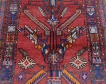 Size:6.10 ft by 3.11 ft Handmade Afghan Tribal Baluch Rug Handmade Carpet Wall Hanging Rug