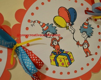 Thing One Thing Two Birthday Banner (Dr. Seuss)
