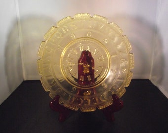 Childs Early American Pattern Glass ABC Clock Plate