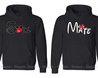 Couple Hoodie - Soul Mate - 2 Couple Hodies -  Matching Love Hoodie