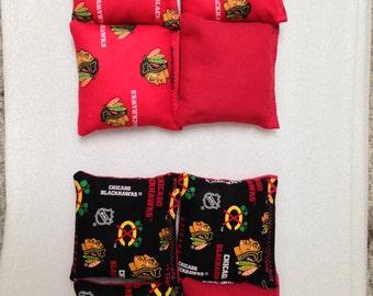 Chicago Blackhawks Bean Bags (set of 8)