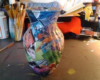 Customized Comic Book Vase