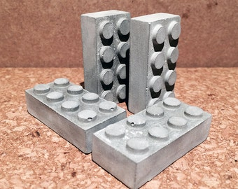 Concrete Lego Brick with Magnet
