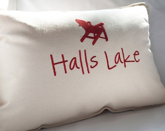 Personalized Cottage Pillow, Cottage Decor, Throw Pillow, Cottage Chic, Muskoka Chair Pillow,