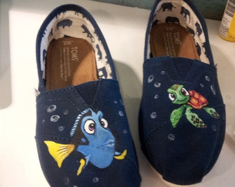 Toms Shoes Customized Dora & Squirt