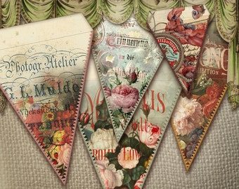 Flower triangle Banner digital Sheets