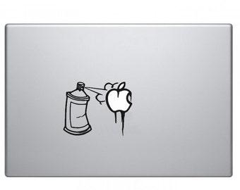 Graffiti Spray Can Macbook Decal Macbook Sticker Mac Decal Mac Sticker Decal for Apple Laptop Macbook Pro / Macbook Air