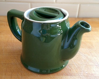 Sale! Vintage Small Teapot 1940s-50s Chefsware restaurant china in green