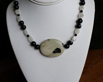 necklace made with precious stone