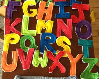 Full Alphabet and Numbers 0-9