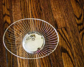 The Long Way: Oblong Mid-century Modern Vintage Wire Bowl