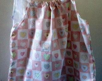 Girls size 2/3 summer dress pillow case dress pink ribbon