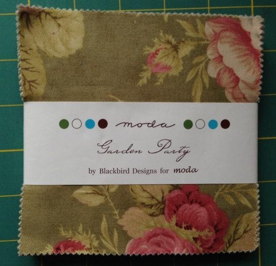 Blackbird designs garden party moda charm pack 100 cotton for Garden party fabric by blackbird designs
