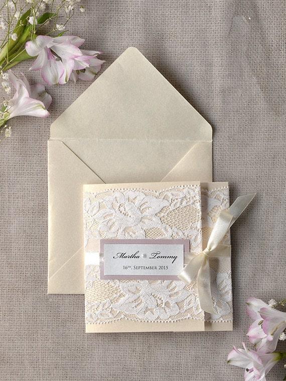 Benutzerdefinierte liste 100 ivory spitze von forlovepolkadots for Hochzeitseinladungen vintage mit spitze