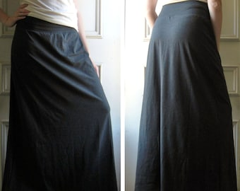 Maxi Skirt Long Cotton Jersey Maxi Skirt Aline - Made to Order in other colors