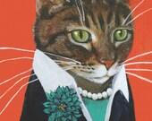 "Paquita Business Cat Fine Art Print, 8x10"", Matte Paper"