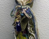 DEPOSIT ONLY Prosperity and Protection. Moon Goddess, assemblage art doll OOAK