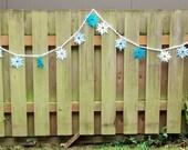 Frozen inspired Winter Snowflake Garland - Birthday party, bedroom, holiday, seasonal decor