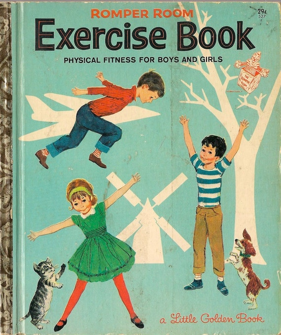 Romper Room Exercise Book Physical Fitness for Boys and Girls - Nancy Claster - Sergio Leone - 1964 - Vintage Kids Book