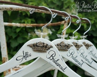 Be My Bridesmaid | Wedding Hanger Ideas | Bridal Party Hangers | Wedding Name Hangers | Bridal Gown Hangers | Bridesmaid Hangers | Hangers