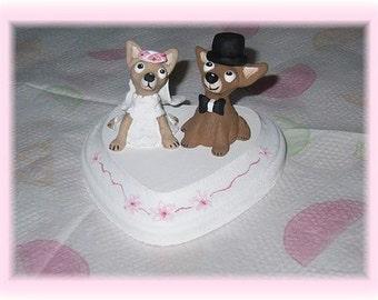 Wedding Cake Topper Your Dogs Custom Order