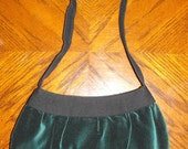 Dark green Velvet Small Buttercup Bag