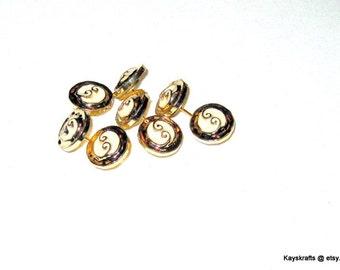 Small White and Gold Button Tacks Thumbtacks Push Pins, for Bulletin Board Corkboard Tack Board Pin Board, Office Decor