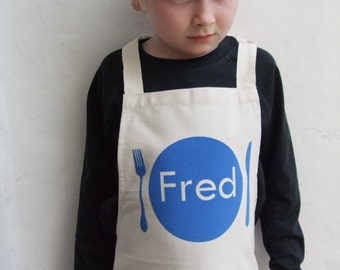 Personalised Boys Apron, kids apron, kids cooking, baker gift, birthday gift, name apron, bbq apron, chef gift, kitchen apron