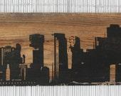 "24"" x 10"" San Francisco Skyline Wall Hanging on Reclaimed Barn Wood"