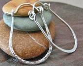 Sterling Silver Hoop Earrings Hammered Silver Small Horseshoe Hoops Equestrian Jewelry Recycled Silver Handmade Hinged Hoops