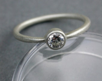 RESERVE for NICK diamond engagement ring 14kt palladium white gold band with 14kt rose gold setting custom wedding ring