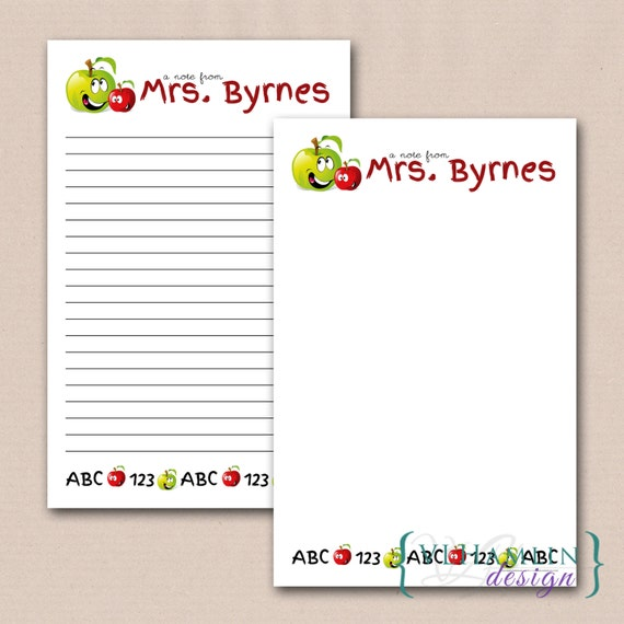 Happy Apple Printable Teacher Notes