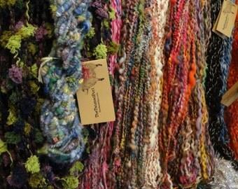 5 Skeins Handspun Yarn Wholesale Bulk Custom Handmade Yarn Average 125 Yards Each 4 Ounce Skein