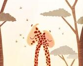 """Giraffe Print, Giraffe Wedding, Giraffe Nursery Print - """"Wild Love"""""""