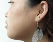 Caddisfly wing dangle earrings