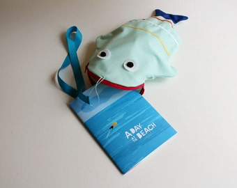 Tote bag Fish (WATER_BLUE) + book
