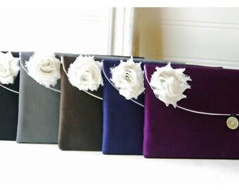 ivory satin bridesmaid gift clutch black satin purse set 5 ivory satin clutch, black favor bag gift bag,black purse black pouch cosmetic bag