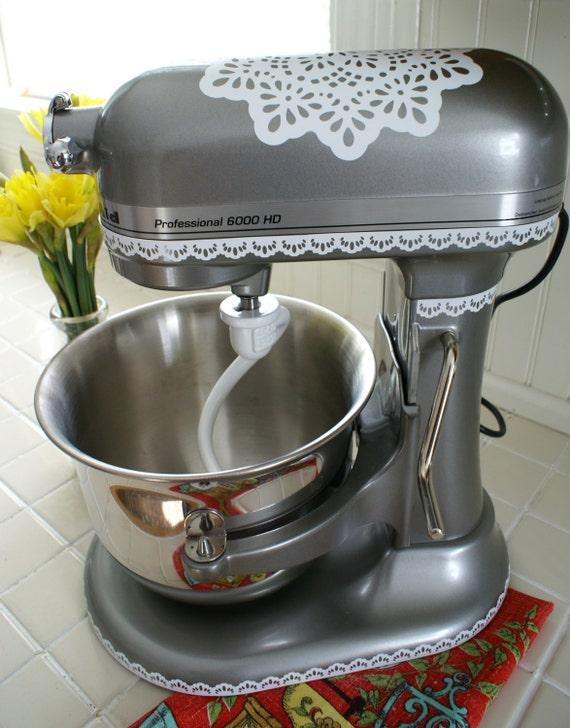 Kitchen Mixer Decals ~ Granny chic kitchenaid decal