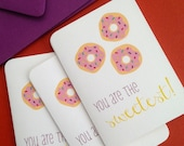 You are the Sweetest! Pack of 6 thank you cards