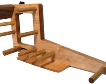 Mini Inkle Loom, Tablet Weaving, Card Weaving Loom With Double Tension System - Handcrafted From Solid Maple & Red Oak - 15 Inch Left Handed