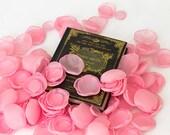 Handmade pink silk flower petals - silk petals, fabric petals, wedding petals, pink petals, flower girl petals, home decor,  pink silk