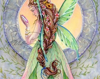 Fairy Art - Emerald Green Fairy Print - Beautifully Made