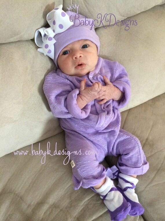 Newborn Baby Hospital Hat Beanies Baby Girl Beenie