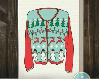 Ugly Sweater -- A Holiday Card from The Nic Studio