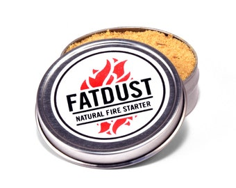 Natural Fire Starter for Campfire FatDust Fatwood Tinder Perfect Stocking Stuffer for Him