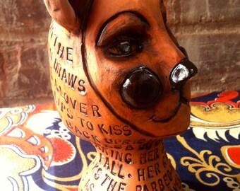 "The Bear Head Sculpture Honoring Robert Frost's ""The Bear"" Poem"