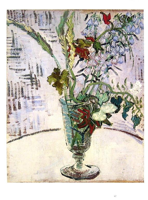 Fine Art Print Vincent Van Gogh Flowers In A Vase 1985