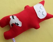 Bright Red Sharknado Kitty