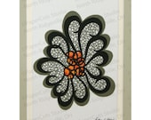 Mosaic Flower Papercutting, Handcut Original, Double-layered